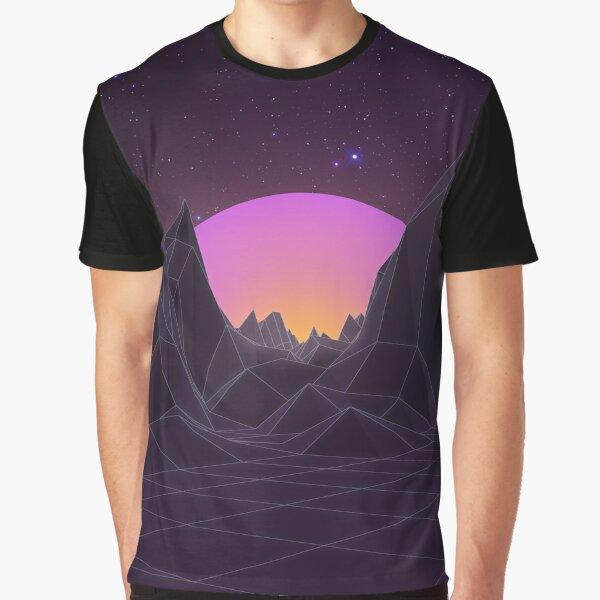 80s Retro Vaporwave Graphic T-Shirt