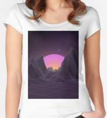 80s Retro Vaporwave Women's Fitted Scoop T-Shirt