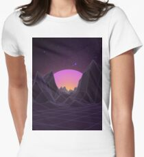 80s Retro Vaporwave Womens Fitted T-Shirt
