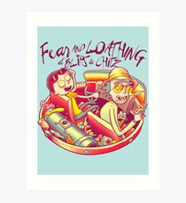 Fear and Loathing at Blips & Chitz Art Print