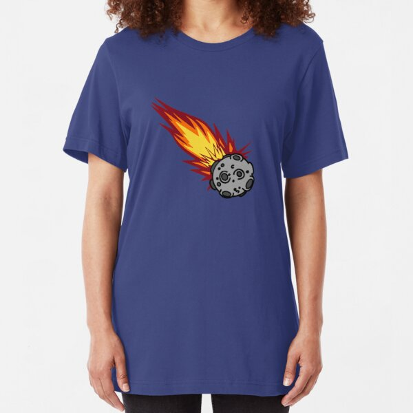 Flaming Meteor or Comet Slim Fit T-Shirt