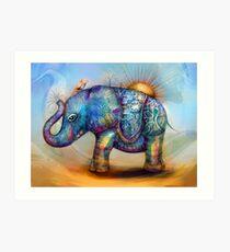 magic rainbow elephant Art Print