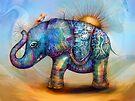 magic rainbow elephant by Karin Taylor