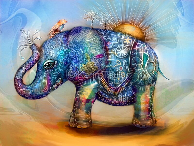 Quot Magic Rainbow Elephant Quot Photographic Prints By Karin