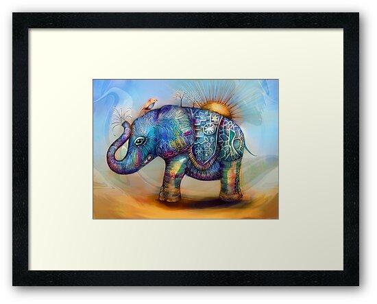 magic rainbow elephant by © Karin Taylor