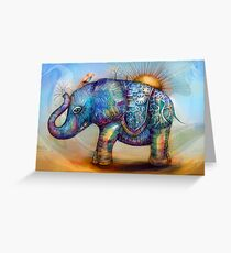 magic rainbow elephant Greeting Card