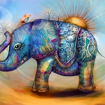 magic rainbow elephant by karin