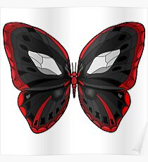 Butterfly - Crazy Killer Black and Red Wings Poster