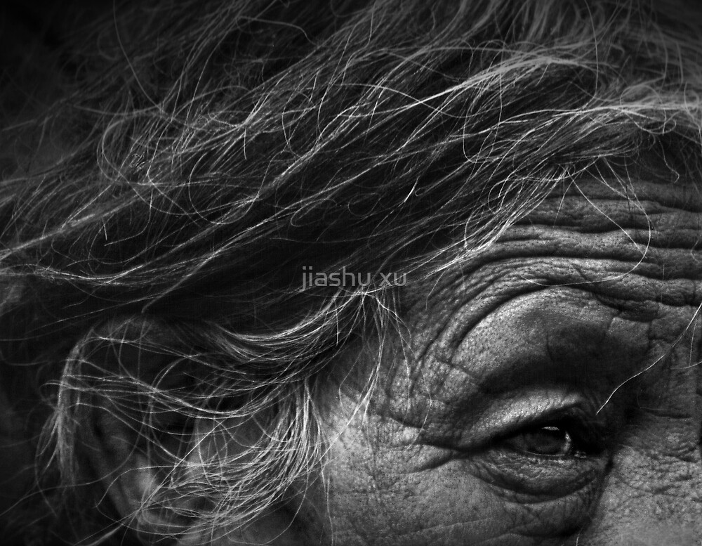 A Tibetan woman in B/W by jiashu xu