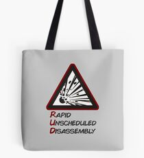 RUD - Rapid Unscheduled Disassembly Tote Bag