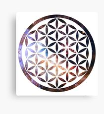 Flower of life - Space background Canvas Print