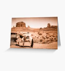 A Horse in the Wild West scene  Greeting Card