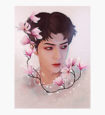 Sehun and flowers Photographic Print