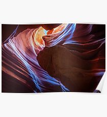 Different shades of purple at Antelope Canyon Poster