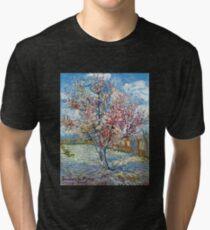 Vincent van Gogh Flowering Peach Trees Tri-blend T-Shirt