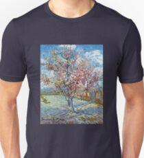 Vincent van Gogh Flowering Peach Trees Unisex T-Shirt