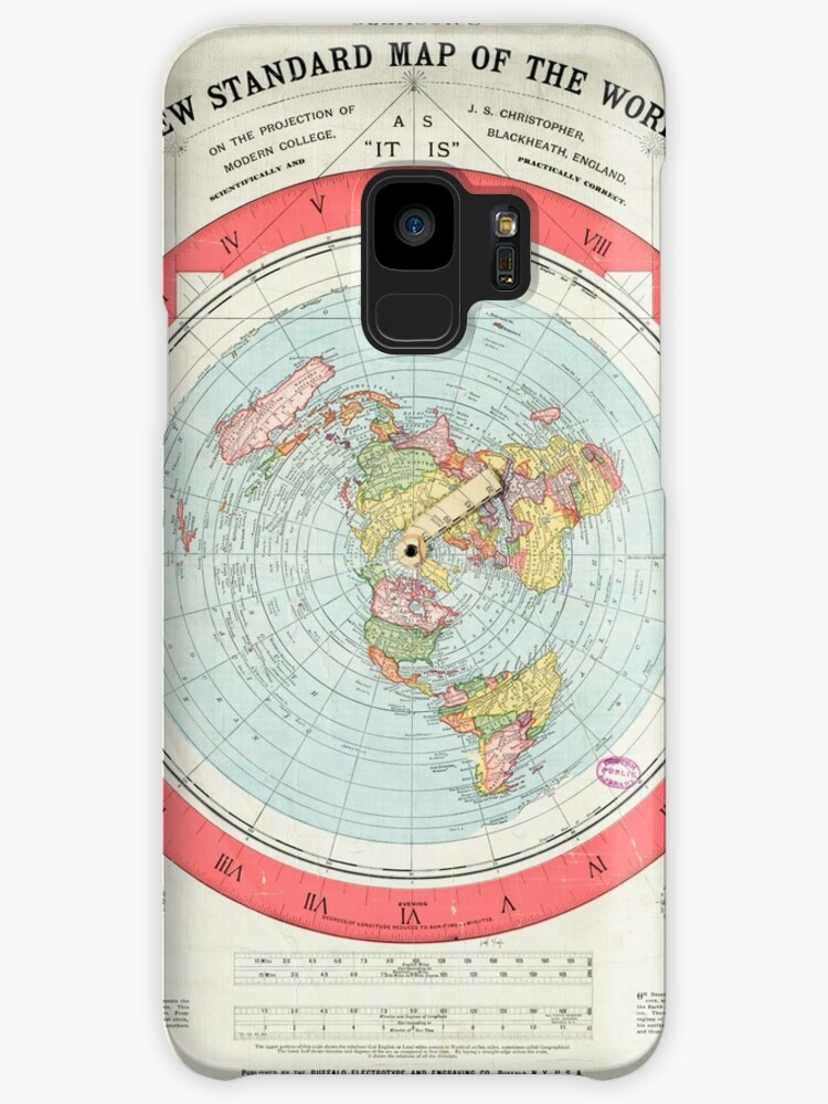 Flat Earth Gleason S Map Cases Skins For Samsung Galaxy By