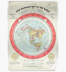 Flat Earth - Gleason's Map Poster