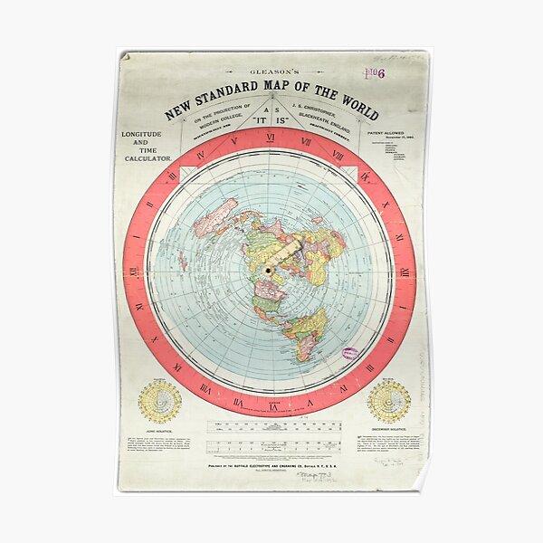 Flat Earth - Mapa de Gleason Póster
