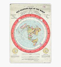 Flat Earth - Gleason's Map Photographic Print