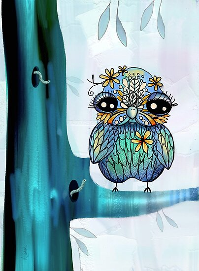 little blue bird by © Karin Taylor
