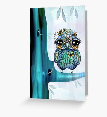 little blue bird Greeting Card