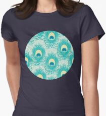 Peacock feathers pattern Womens Fitted T-Shirt
