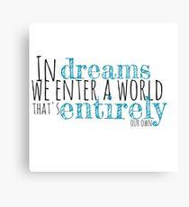 Harry Potter // Dreams Canvas Print