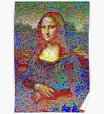 Mona's Place – r/Place re-formed into mosaic Poster