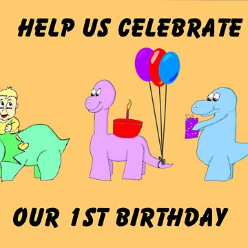 Baby's first birthday invitation by EddyG