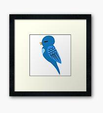 Adorable single cartoon bird Framed Print