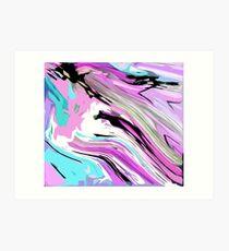 Marbled Lilac  Art Print