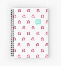 GEEK GIRLS logo pattern Spiral Notebook