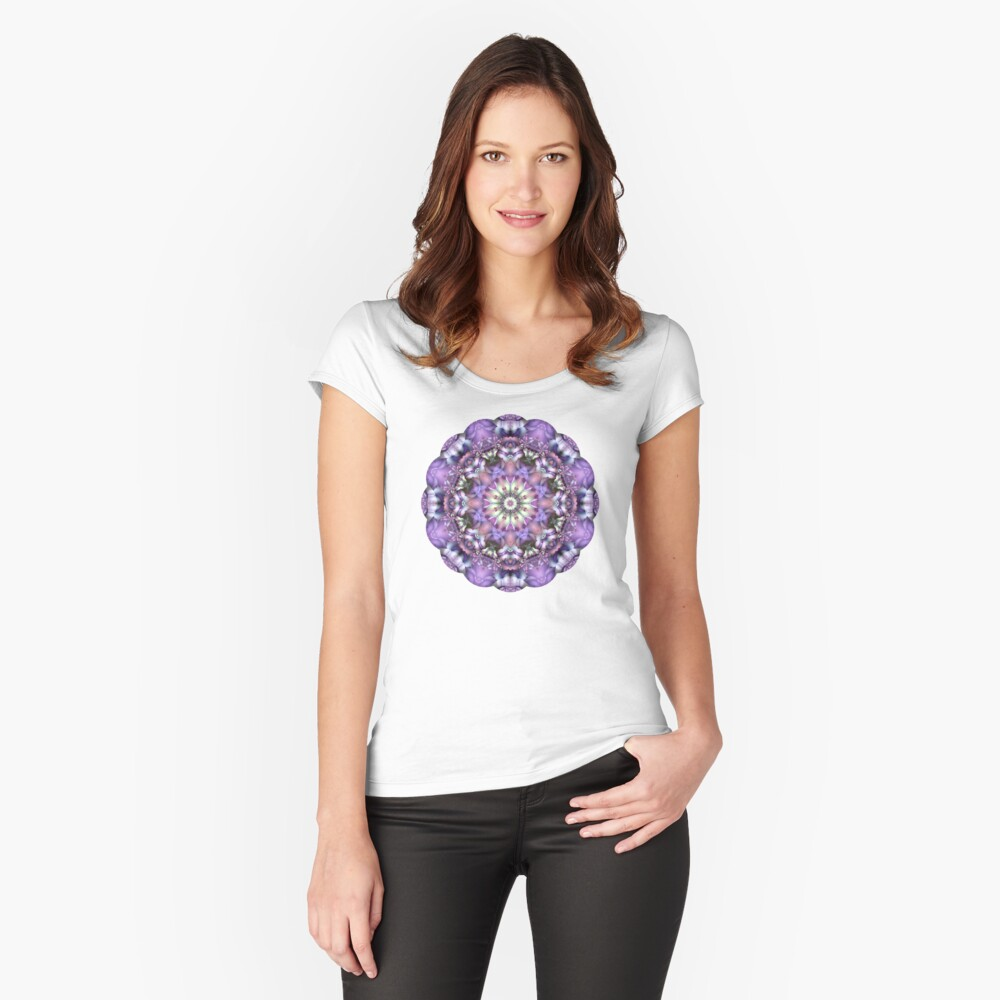 Lilac Mandala Women's Fitted Scoop T-Shirt Front