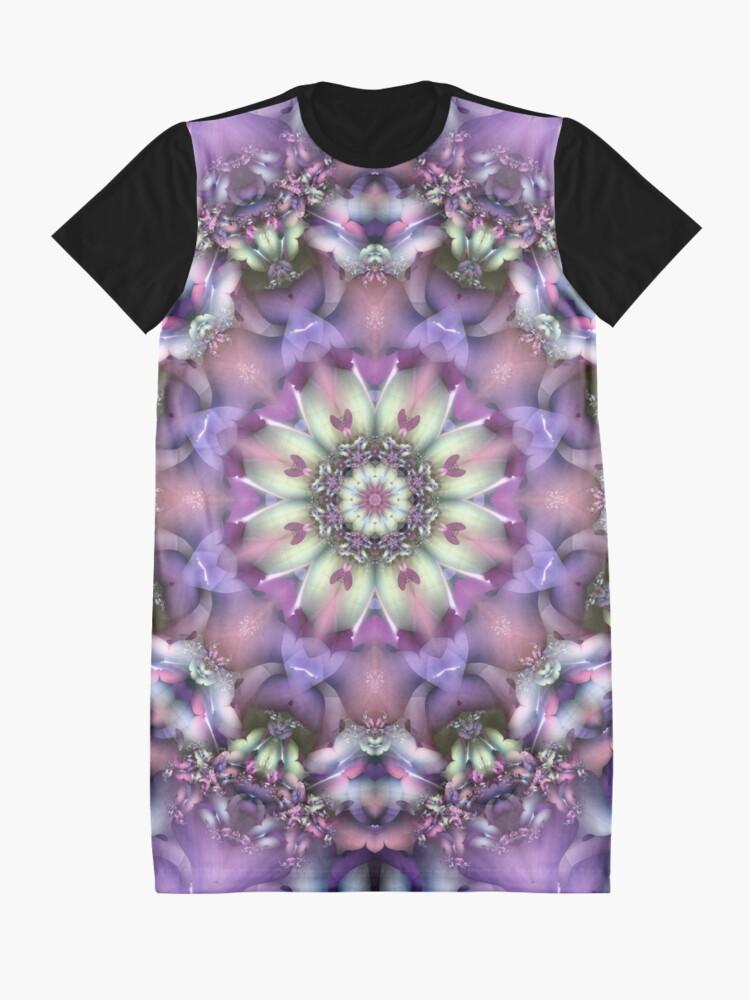 Alternate view of Lilac Mandala Graphic T-Shirt Dress