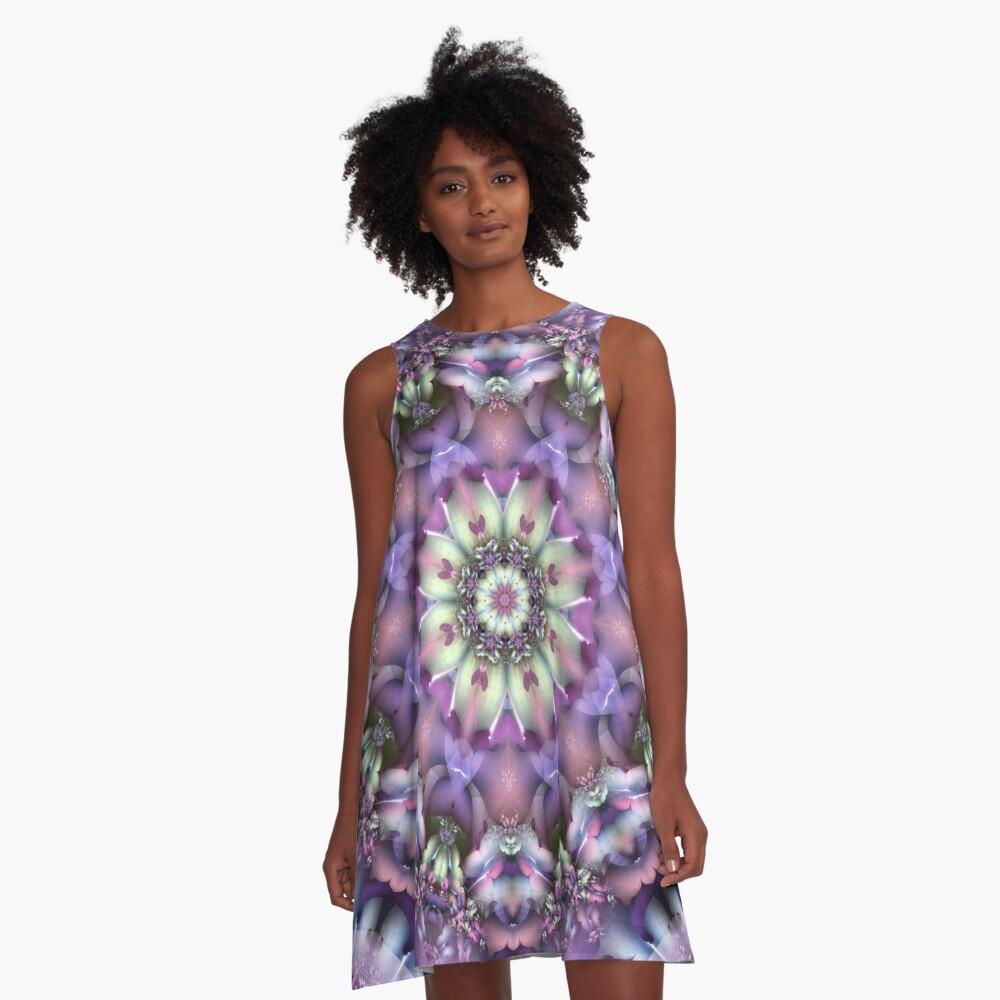Lilac Mandala A-Line Dress