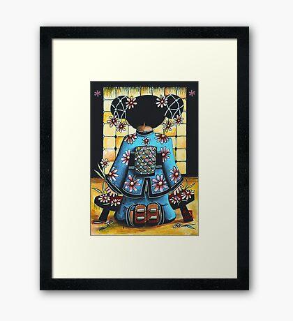 Asia Blue Framed Print