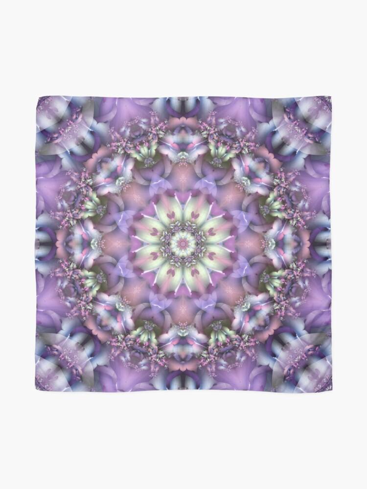 Alternate view of Lilac Mandala Scarf