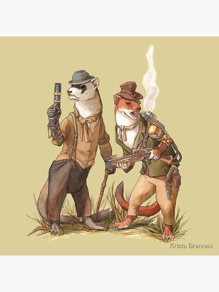 Steampunk Weasels by kristabrennan