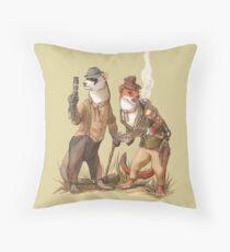 Steampunk Weasels Throw Pillow