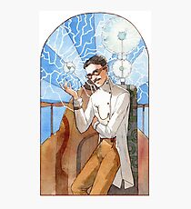 Nikola Tesla - The Magician Photographic Print