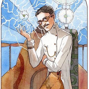 Nikola Tesla - The Magician by kristabrennan
