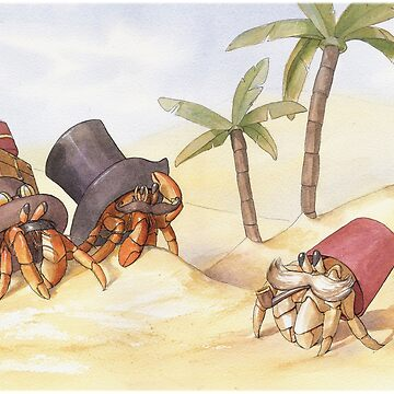 Victorian Hermit Crabs by kristabrennan