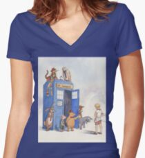 Doctor Pooh Women's Fitted V-Neck T-Shirt