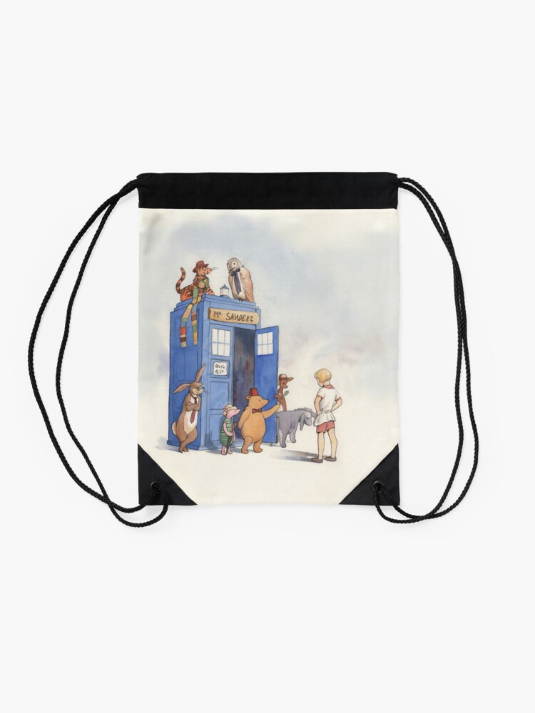 Alternate view of Doctor Pooh Drawstring Bag