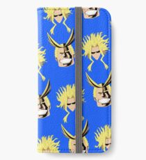 Alles Blau-Muster iPhone Flip-Case/Hülle/Klebefolie