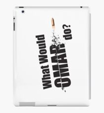 "What Would Omar Do? ""The Wire"" iPad Case/Skin"