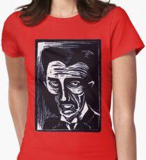 tesla (version 1 blue) Women's Fitted T-Shirt