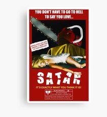 Say You Love Satan 80s Horror Podcast - Pieces Canvas Print