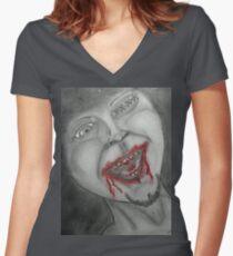 SWM.. Loves long walks on the beach....  Women's Fitted V-Neck T-Shirt